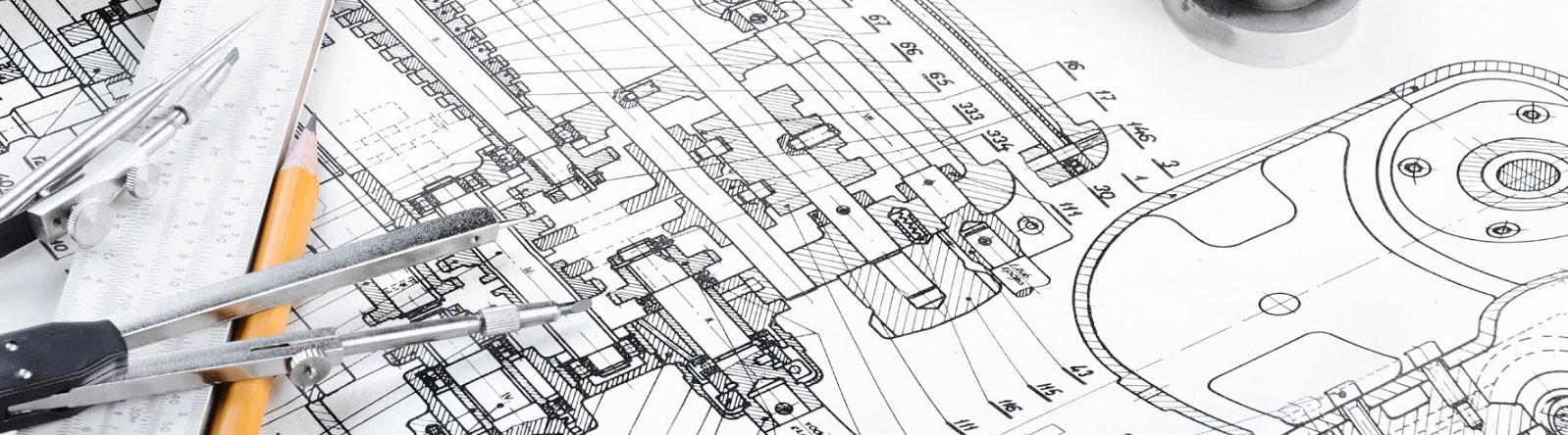 Planos técnicos CAD-CAM para fabricación de maquinaria industrial