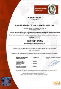 Certificado de calidad Bureau Veritas